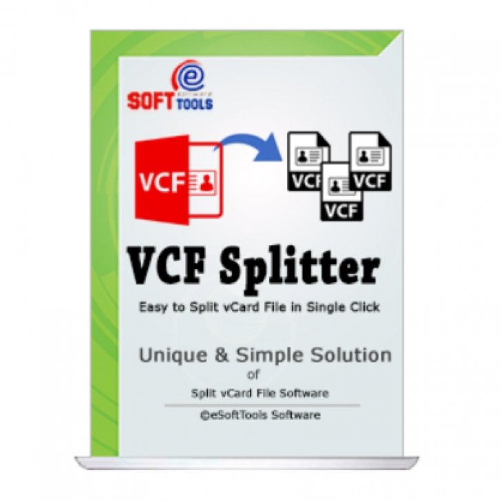 eSoftTools vCard Splitter (โปรแกรมแยก-รวมไฟล์นามบัตรนามสกุล VCF)