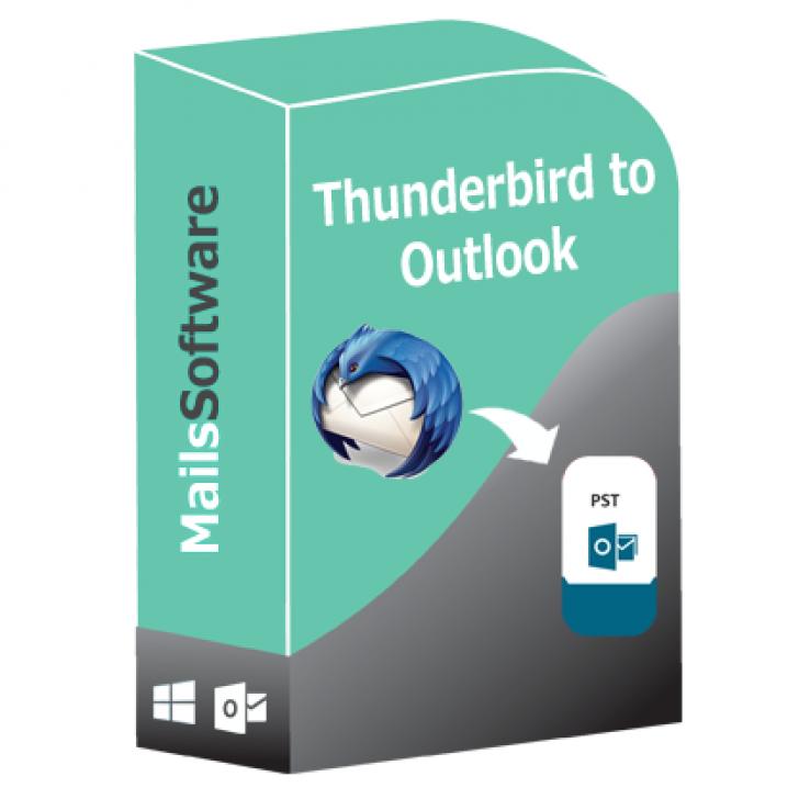 MailsSoftware Thunderbird to Outlook (โปรแกรมแปลงไฟล์ Thunderbird MBOX เป็น PST)