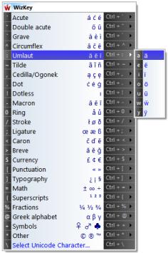 โปรแกรมช่วยพิมพ์ อักขระพิเศษ อักษรพิเศษ และ สัญลักษณ์พิเศษ WizKey