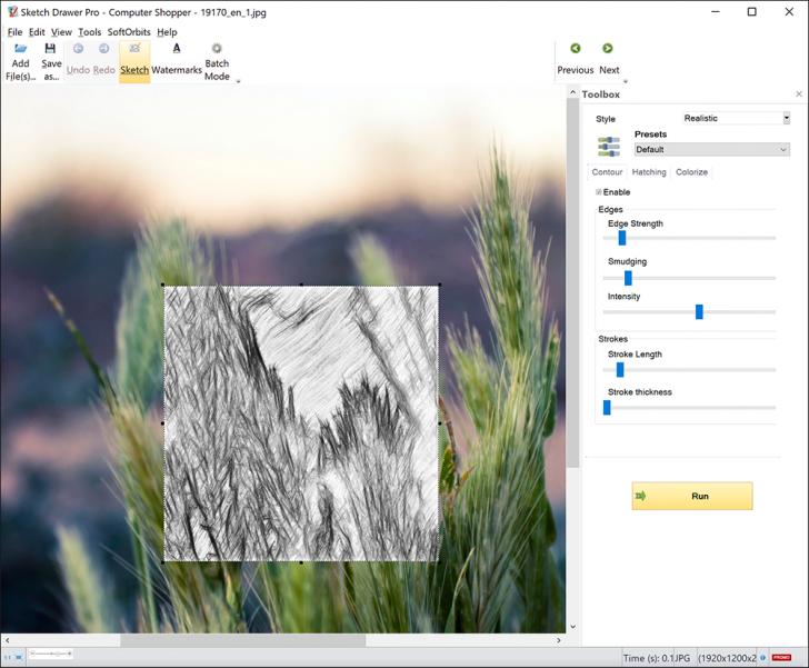 โปรแกรมเปลี่ยนรูปถ่ายเป็นภาพสเก็ตช์ SoftOrbits Sketch Drawer