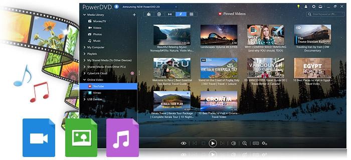 PowerDVD Essential (โปรแกรม PowerDVD ดูหนังฟังเพลง)