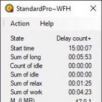 WorkFromHome (โปรแกรมเก็บข้อมูลเวลาปฏิบัติงานของพนักงาน ขณะทำงานจากที่บ้าน)